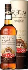 Ром «Dillon VSOP Rum Martinique АОС with GB» в подарочной упаковке