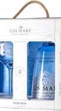 Джин «Gin Mare gift box with glass» в подарочной упаковке