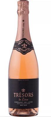 Вино игристое розовое брют «Tresors De Loire Rose Cremant De Loire Joseph Verdier»