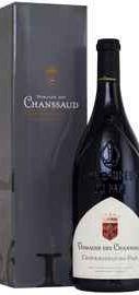 Вино красное сухое «Chateauneuf Du Pape Domaine Des Chanssaud » 2016 г. в подарочной упаковке