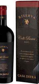 Вино красное сухое «Casa Defra Colli Berici Riserva» 2016 г. в подарочной упаковке