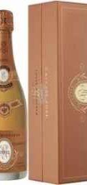 Шампанское розовое брют «Cristal Rose» 2012 г. в  деревянной подарочной упаковке