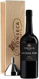 Портвейн «Fonseca Vintage 2016» в деревянной подарочной упаковке
