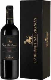 Вино красное сухое «Tasca d Almerita Cabernet Sauvignon Vigna San Francesco» 2016 г. в подарочной упаковке