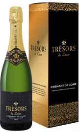 Вино игристое белое брют «Tresors De Loire Cremant De Loire Joseph Verdier» в подарочной упаковке