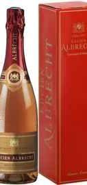Вино игристое розовое брют «Cremant D'Alsace Lucien Albrecht Rose Brut» в подарочной упаковке
