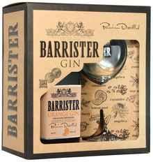 Джин «Gin Barrister Orange» в подарочной упаковке с бокалом