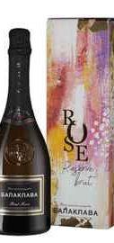 Вино игристое розовое брют «Balaklava Brut Rose Reserve» в подарочной упаковке