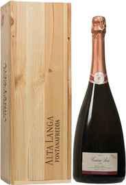 Вино игристое розовое брют «Fontanafredda Contessa Rosa» 2012 г., в деревянной подарочной упаковке