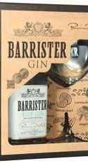 Джин «Barrister Blu» в подарочной упаковке с бокалом