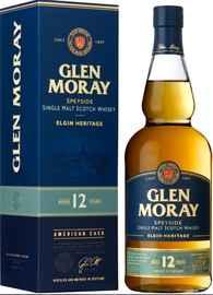 Виски шотландский «Glen Moray Single Malt Elgin Heritage 12 YO, 0.7 л» в подарочной упаковке