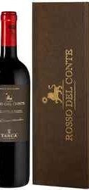Вино красное сухое «Tasca d Almerita Rosso del Conte» 2015 г. в подарочной упаковке