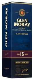 Виски шотландский  «Glen Moray Single Malt Elgin Heritage 15 Yo» в подарочной упаковке