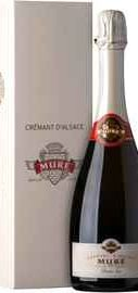 Вино игристое белое полусухое  «Rene Mure Cremant d' Alsace Demi-Sec» в подарочной упаковке