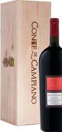 Вино красное полусухое «Conte Di Campiano Negroamaro Salento Passito Contri Spumanti » 2015 г. в деревянной подарочной упаковке