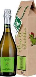 Вино игристое белое сухое «Cielo e Terra Bio Bio Bubbles» в подарочной упаковке