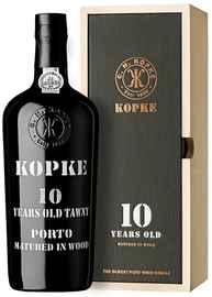 Портвейн «Kopke 10 Years Old Porto» в подарочной упаковке