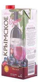 Вино столовое красное сухое  «Крымский винный завод Крымское (Тетра Пак)»