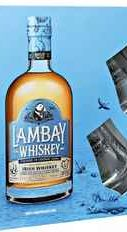 Виски ирландский «Lambay Small Batch Blend West Cork Distillers Limited» в подарочной упаковке с двумя стаканами