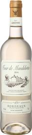 Вино белое полусладкое «Tour De Mandellotte Bordeaux» 2016 г.