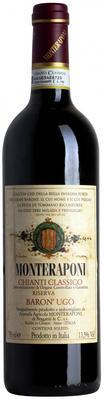 Вино красное сухое «Monteraponi Baron Ugo Riserva Chianti Classico, 1.5 л» 2010 г.