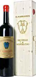 Вино красное сухое «Il Marroneto Brunello di Montalcino» 2014 г., в деревянной подарочной упаковке