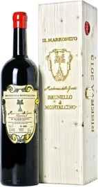 Вино красное сухое «Il Marroneto Madonna delle Grazie Brunello di Montalcino Riserva» 2013 г., в деревянной подарочной упаковке