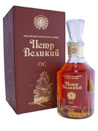Коньяк российский «Петр Великий ОС» в подарочной упаковке