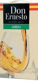 Вино белое сухое «Airen Don Hernesto (Tetra Pak)»