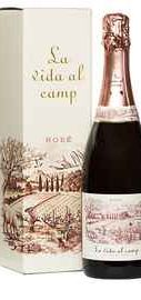 Вино игристое розовое брют «La Vida Al Camp Brut Rose» 2016 г. в подарочной упаковке