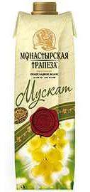 Вино столовое белое полусладкое «Монастырская трапеза Мускат (Тетра Пак)»