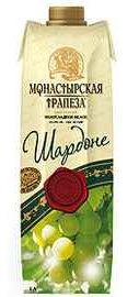 Вино столовое белое полусладкое «Монастырская трапеза Шардоне (Тетра Пак)»
