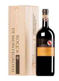 Вино красное сухое «Rocca Di Montegrossi Vigneto San Marcellino Chianti Classico Gran Selezione» 2014 г. в деревянной подарочной упаковке