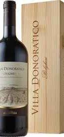 Вино красное сухое «Villa Donoratico» 2017 г., в деревянном подарочном футляре