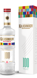 Водка «Калашников Премиум ограниченная серия 100 лет» в подарочной упаковке