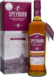 Виски шотландский «Speyburn 18 Years» в подарочной упаковке