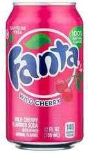Газированный напиток «Fanta Wild Cherry USA» в жестяной банке