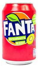 Газированный напиток «Fanta Strawberry & Kiwi»