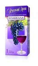 Вино столовое красное полусладкое  «Русская Лоза Изабелла»