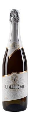 Российское шампанское белое полусладкое «Цимлянское»