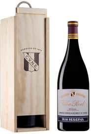 Вино красное сухое «Vina Real Gran Reserva» 2011 г. в деревянной коробке