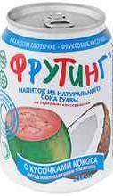 Сок «Fruiting из сока гуавы с кусочками кокоса»