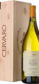 Вино белое сухое «Cervaro Castello Della Sala Umbria» 2012 г., в деревянной подарочной упаковке