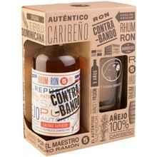 Ром «Contrabando 5 Years Old» в подарочной упаковке со стаканом