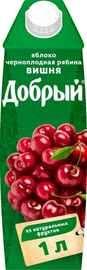 Нектар «Добрый Яблоко вишня черноплодная рябина»