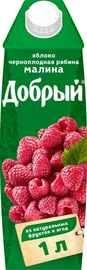 Нектар «Добрый Яблоко Черноплодная рябина Малина»