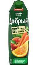 Сок «Добрый Multi-Mix Яблоко Апельсин Персик Морковь»