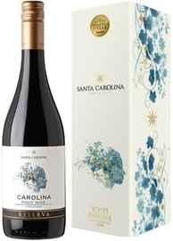 Вино красное сухое «Santa Carolina Reserva Pinot Noir Valle de Leyda» 2018 г. в подарочной упаковке