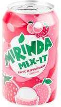 Газированный напиток «Mirinda Mix-it со вкусом клубники и личи» в жестяной банке