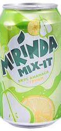 Газированный напиток «Mirinda Mix-it со вкусом ананаса и груши» в жестяной банке